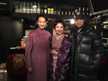 中国映画 優しい銃弾_監督さんとヒロイン(中国の女優さん)と記念撮影