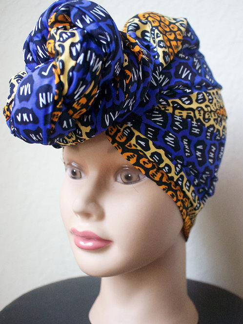 Tri-color African Fabric Headwrap