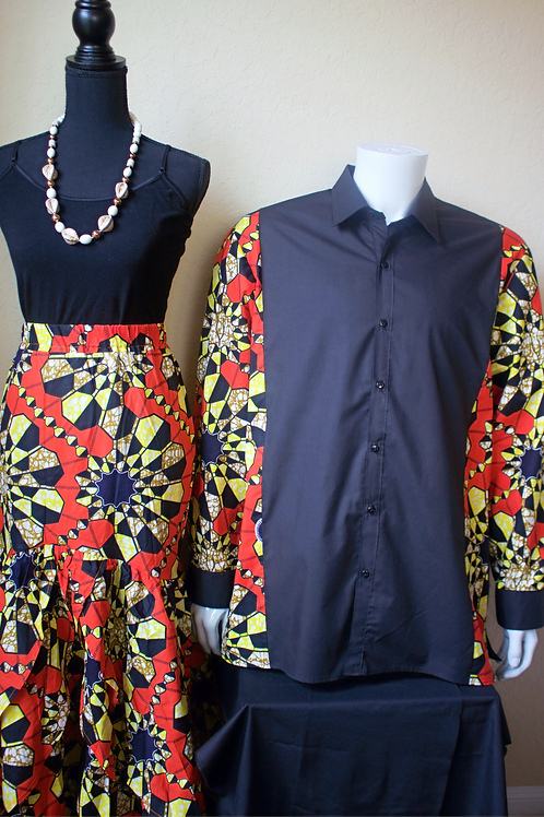 His & Her's Red/Yellow Print