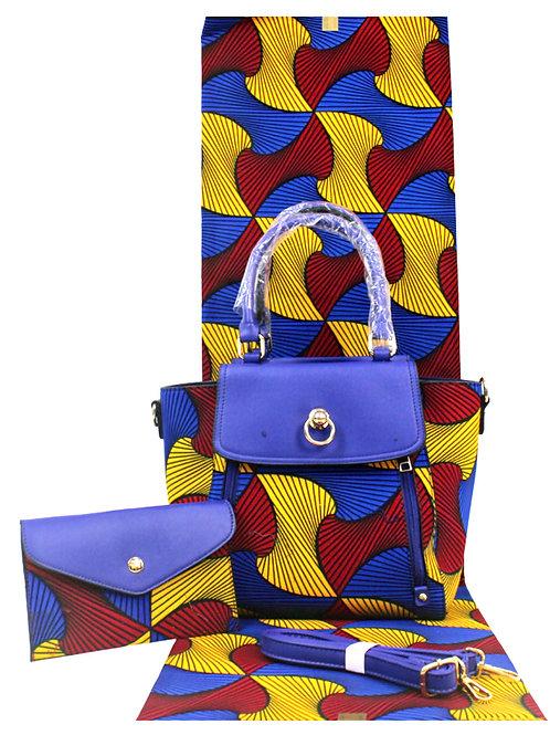 Handbag- Abstract & Matching Headwrap
