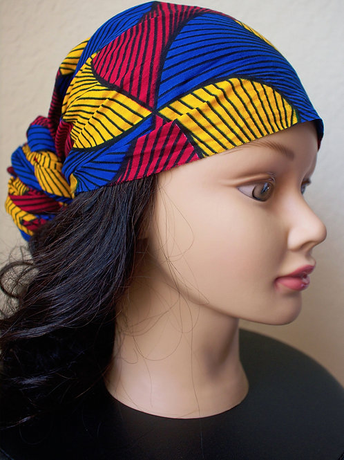 Abstract African Printed Fabric Headwrap