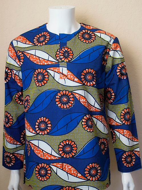 Blue Patterned Tunic