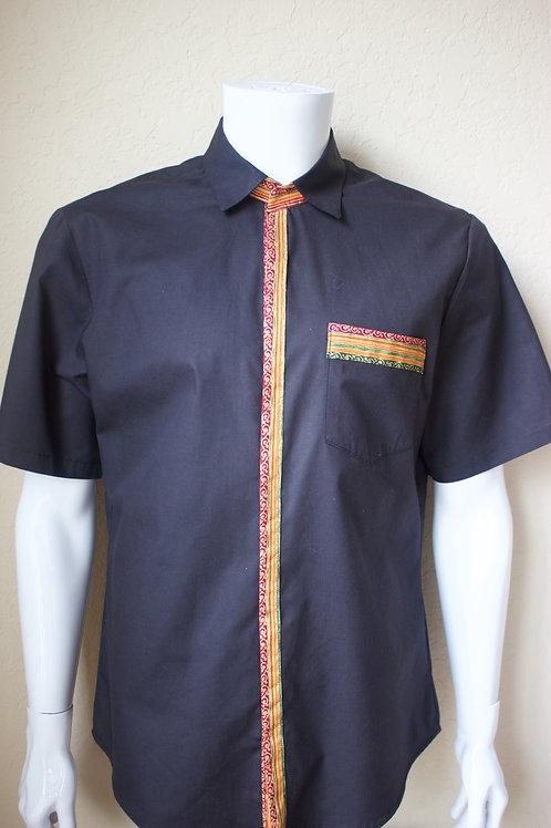 Men's Solid & Metallic Shirt