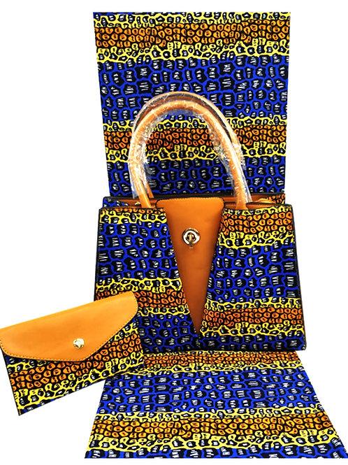 Handbag- Tri-Color & Matching Headwrap