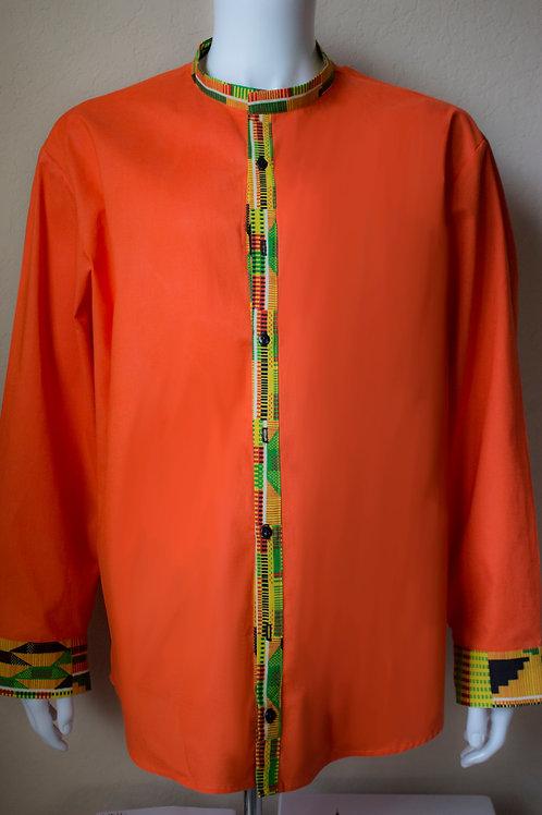 Solid Orange Kente Long Sleeve
