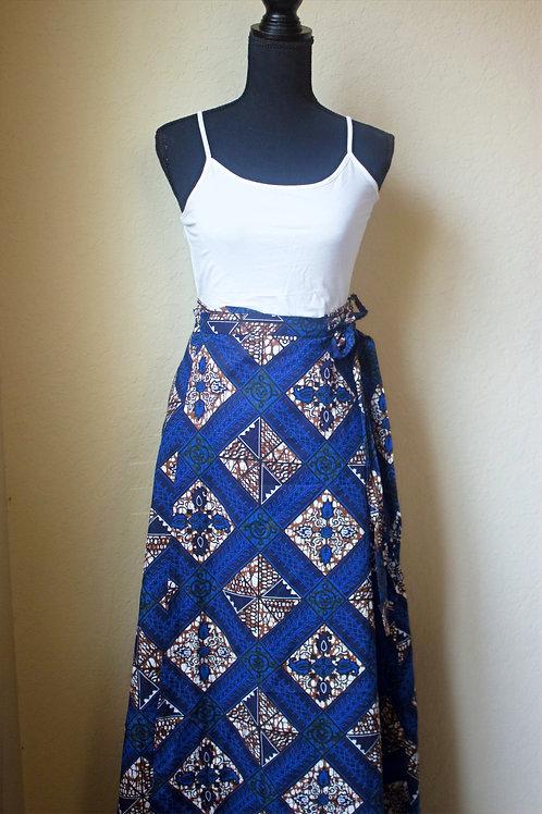 African Printed Wrap-Around Skirt