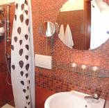 bathroom with shower - entrance level
