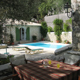 The pool & the Guest House