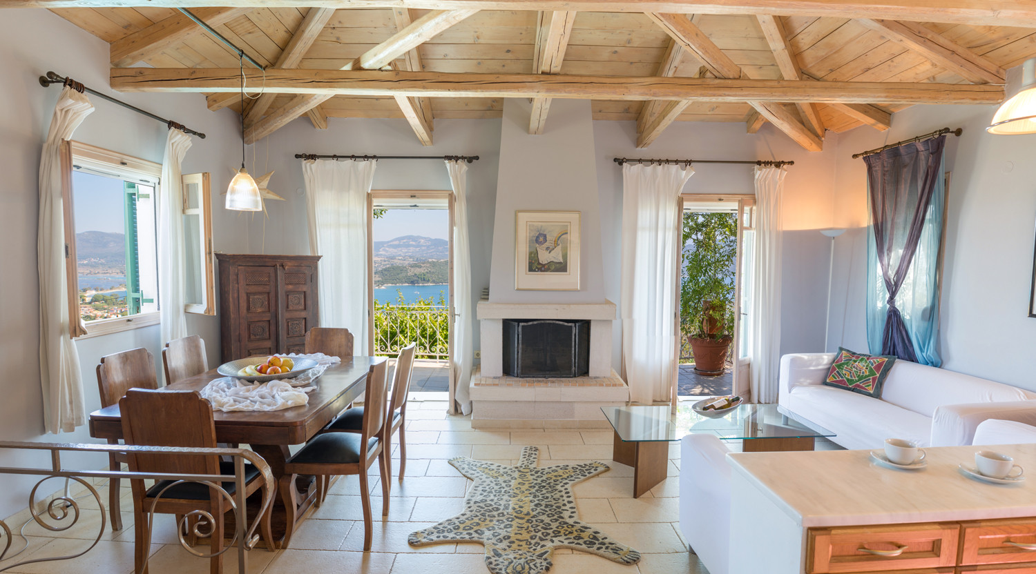 living area - villa Anthea Rossa