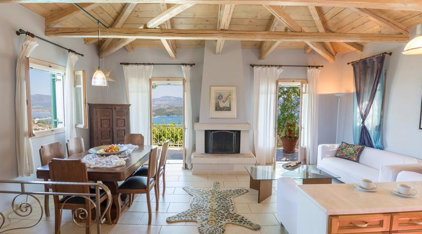 living area - villa Anthea Rossa