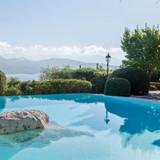 The pool & sea view