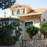 arriving at the villa