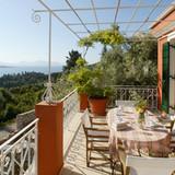 The upper terrace & sea views