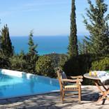 terrace & sea views