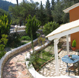 back terrace with mountain views