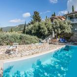 the pool terrace & the villa