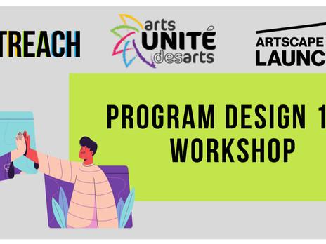 Upcoming workshop: Program design 101