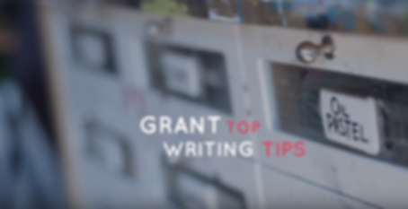 Grant Writig Top Tips Video