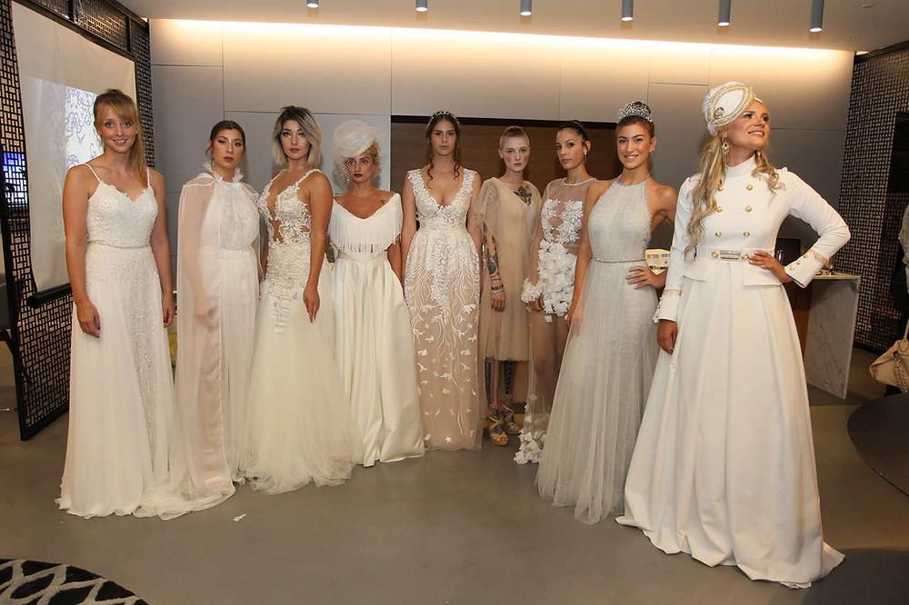 נבחרת כלות של תחרות מעצבי שמלות כלה וערב צעירים בחסות והפקת גואפו - בית ספר למקצועות האופנה. צילום: ראובן שניידר