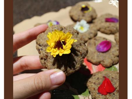 Dica Saudável | Biscoito natalino com flores cosmestíveis.