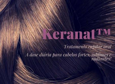 Keranat™ | Tratamento capilar oral | A dose diária para cabelos fortes, sublimes e radiantes!