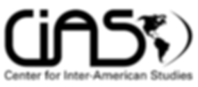 CiAS :  Centre for Inter-American Studes logo, grahic of north & south america