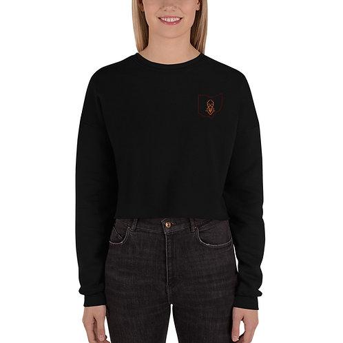 Ohio Bucky Embroidered Crop Sweatshirt