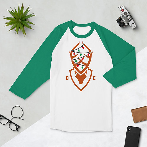 Christmas Bucky 3/4 sleeve raglan shirt