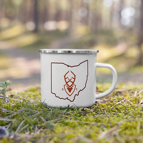 Ohio Bucky Enamel Mug