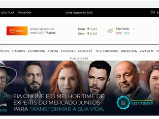 Andréa Thomé é destaque na página inicial do UOL hoje!