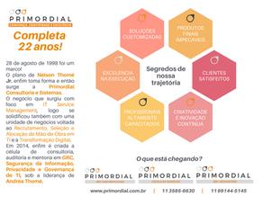 22 anos de Primordial Consultoria e Sistemas!