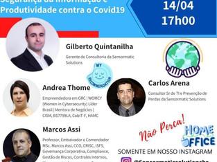 Live sobre Segurança da Informação e Produtividade contra o Covid19
