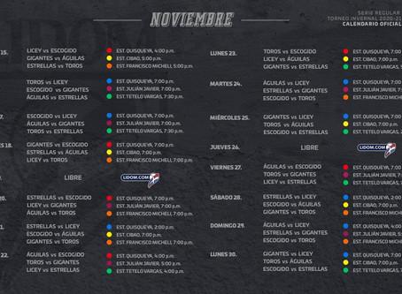 LIDOM da a conocer su calendario para la  temporada 2020-21