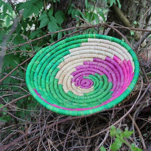 Medium pink & green yin-yang tray