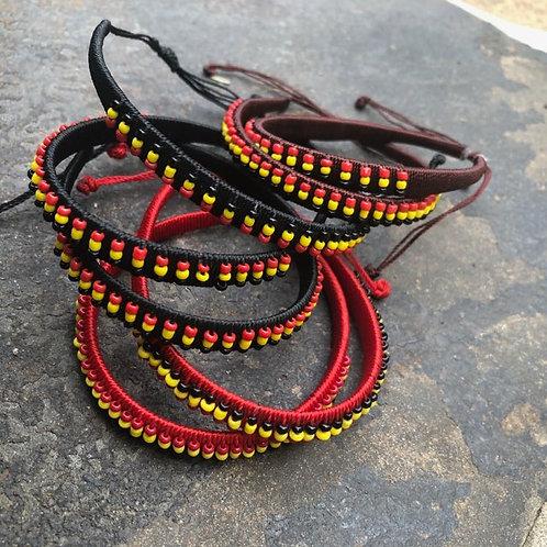 Uganda-flag bracelets