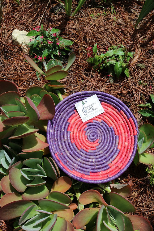 Small purple & red waves tray