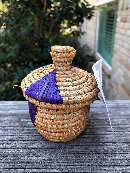 Purple Lidded Basket