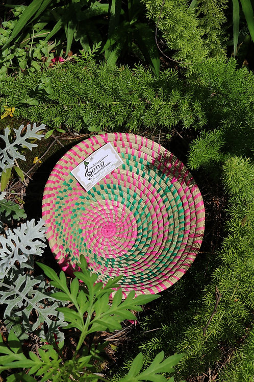 Medium pink & green bowl