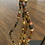 Thumbnail: Paper bead necklace -multi brown