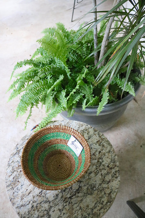 XL brown and green bowl