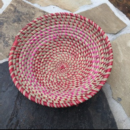 Red and Pink Candy Cane Bowl