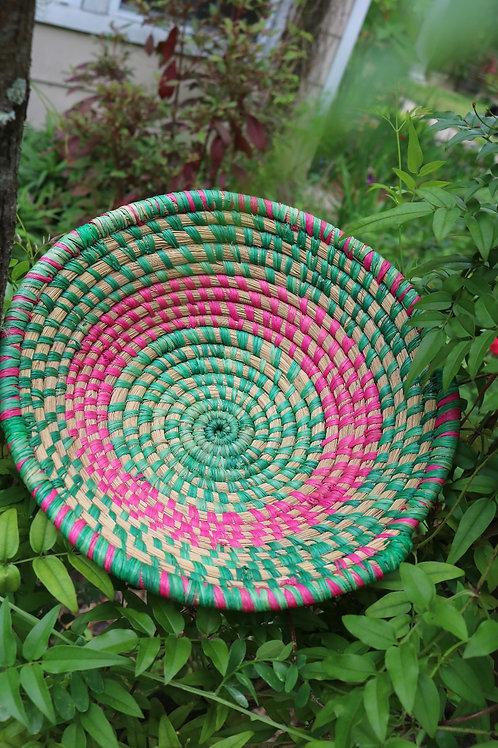 Large green & pink bowl