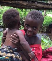 Beckham and his little sister, Poppy, two Batwa children from southwest Uganda