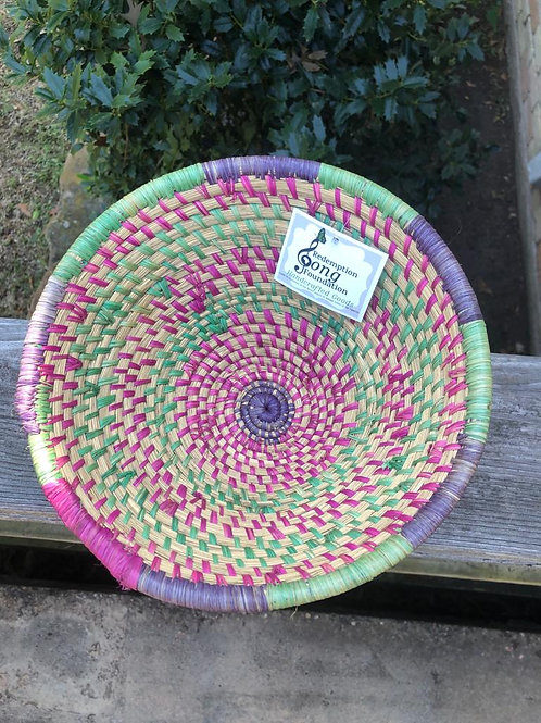 Green and Purple Striped Bowl