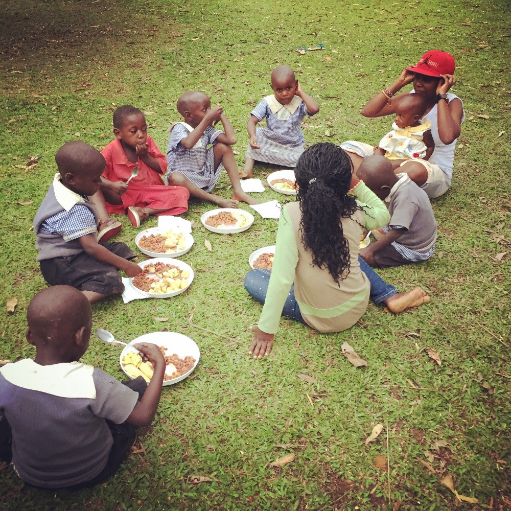 The Batwa kids at our Soup Kitchen