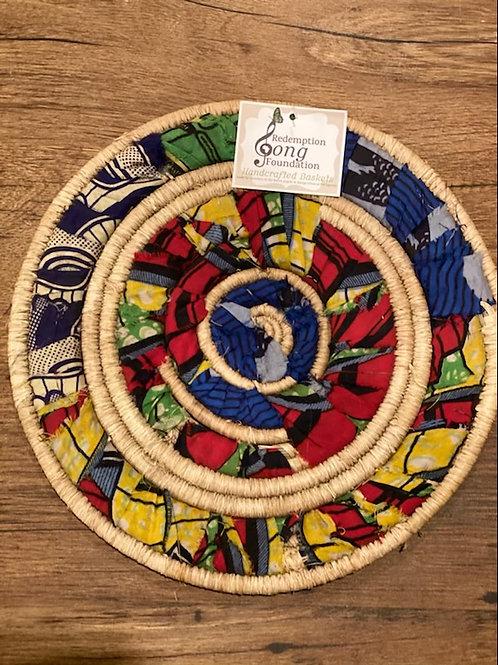 African Fabric Trivet