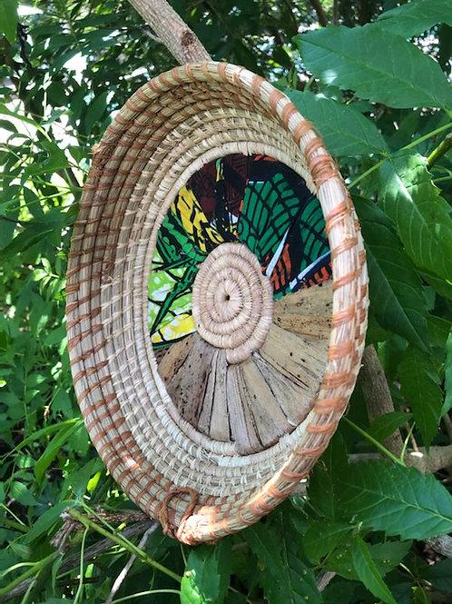Banana Leaf & Green African Fabric Tray