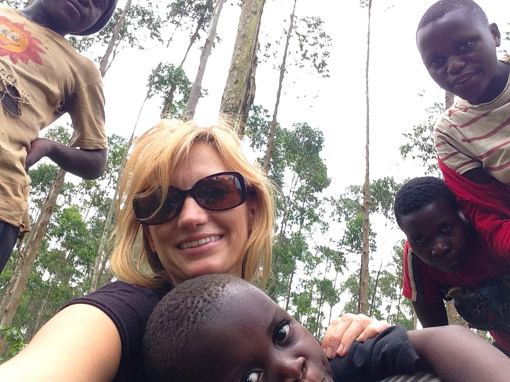 "I got some play time with the Batwa kiddos, including the ""face"" of RSF - Beckham"
