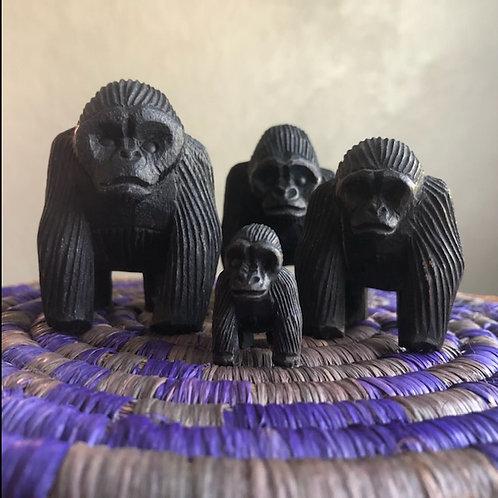 Balsa Wood Carved Gorillas