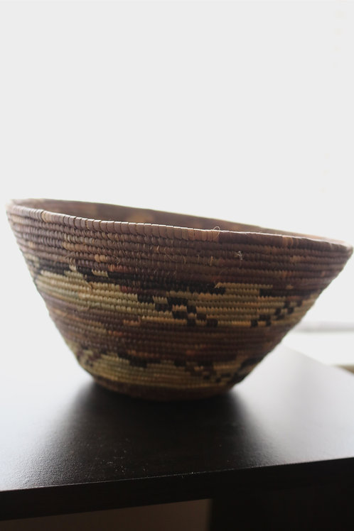 Natural bowl with purple and black accents